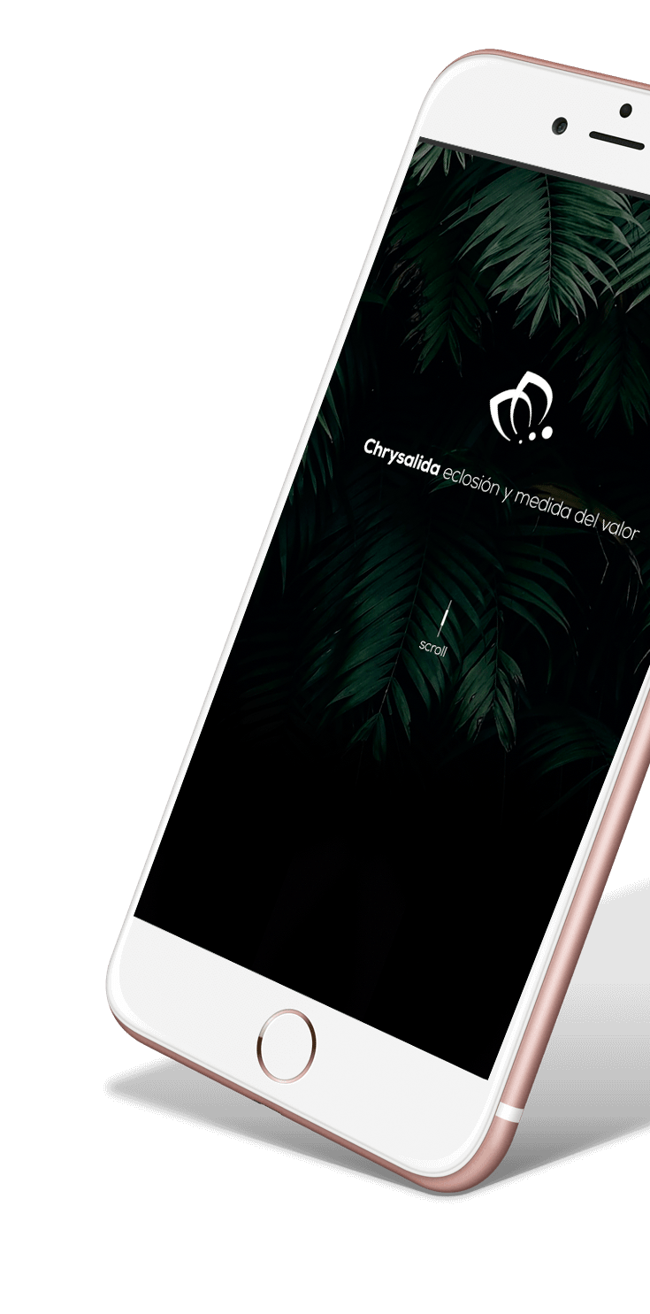 Web de Chrysalida en móvil